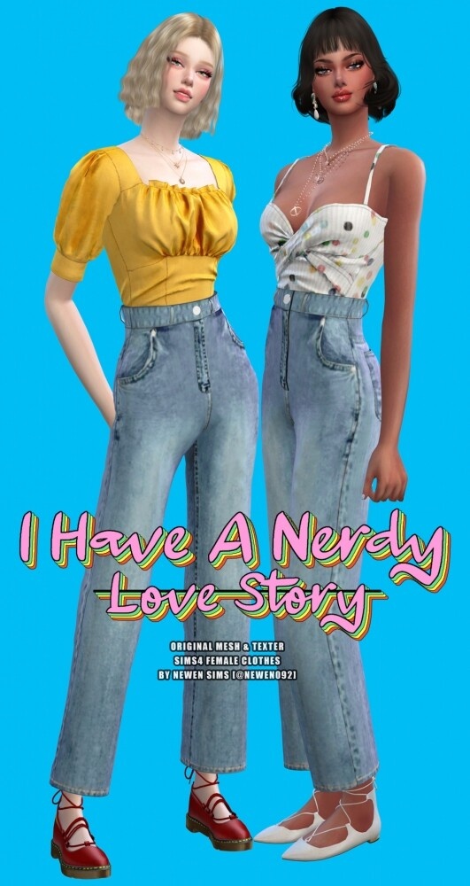 I have a nerdy love story set at NEWEN image 3521 531x1000 Sims 4 Updates