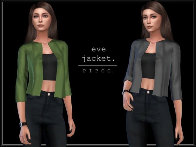 Sims 4 Eve jacket by Pipco at TSR