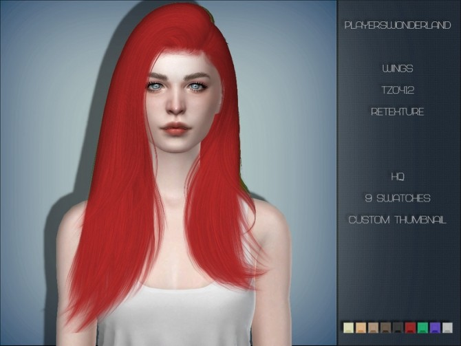 Sims 4 Wings TZ0412 Hair Retexture by PlayersWonderland at TSR