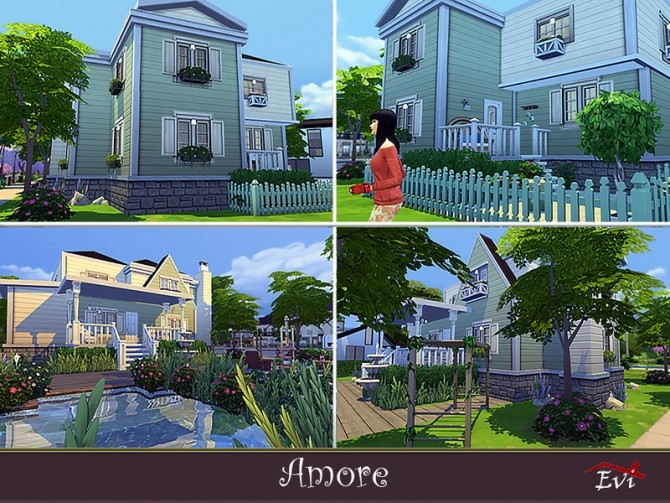 Sims 4 Amore home by evi at TSR