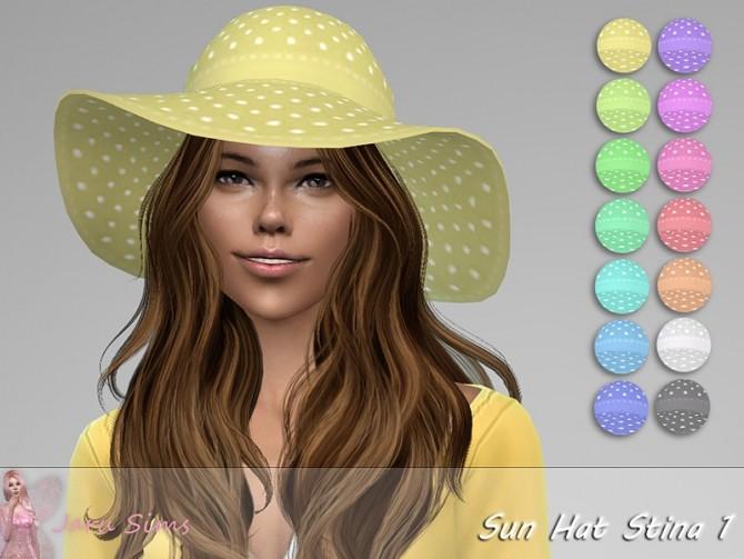 Sims 4 Sun Hat Stina 1 by Jaru Sims at TSR