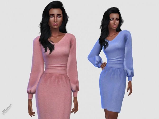 Sims 4 Tanya Dress by pizazz at TSR