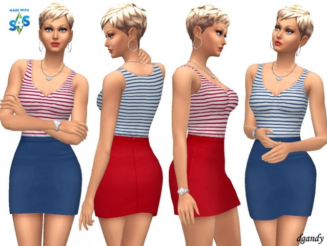 Dress 20200402 by dgandy at TSR image 402 670x503 Sims 4 Updates