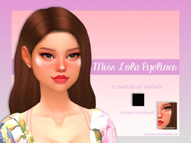 Sims 4 Miss Lola Eyeliner by LadySimmer94 at TSR