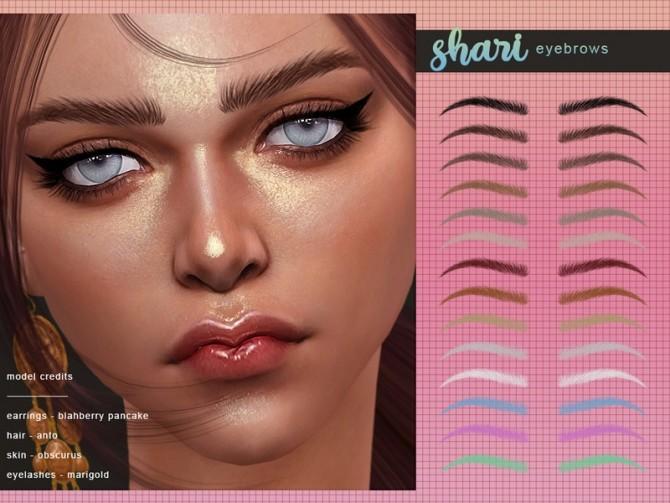 Shari Eyebrows by Screaming Mustard at TSR image 411 670x503 Sims 4 Updates