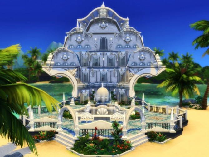 Sims 4 The Shell house by VirtualFairytales at TSR