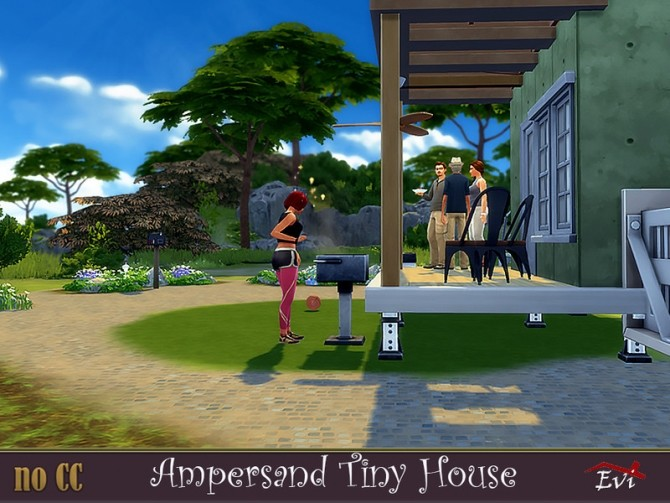 Sims 4 The Ampersand Tiny House by evi at TSR