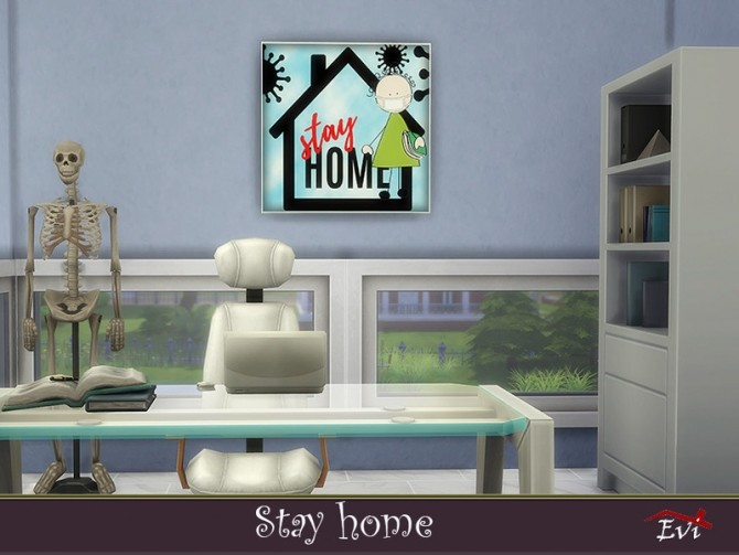 Sims 4 Stay Home posters by evi at TSR