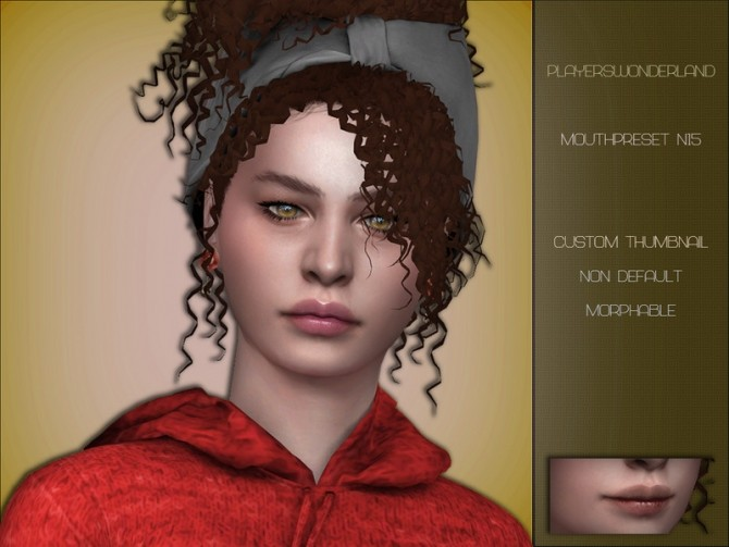 Mouth preset N15 by PlayersWonderland at TSR image 415 670x503 Sims 4 Updates