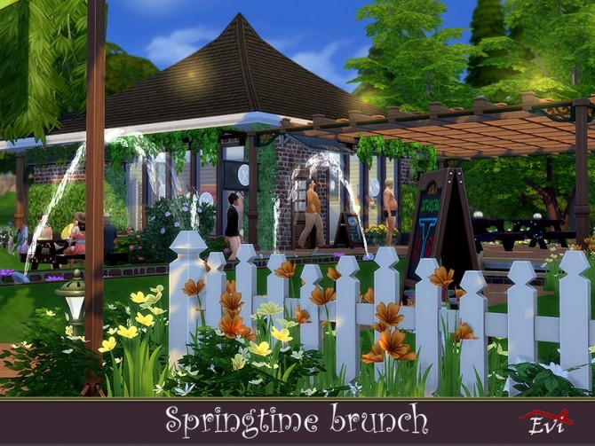 Sims 4 Spring time brunch by evi at TSR