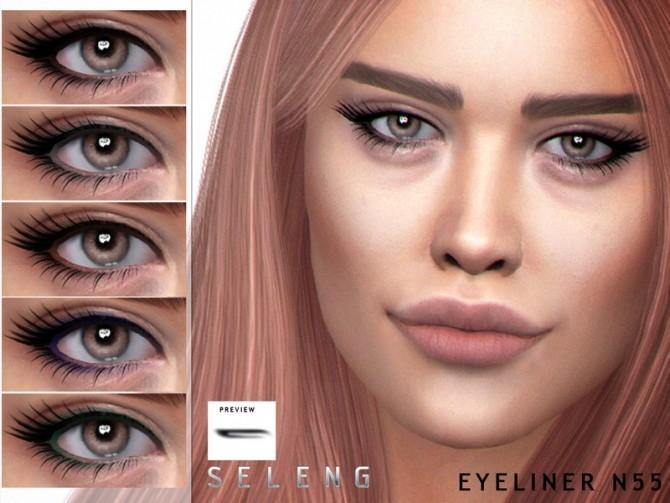 Sims 4 Eyeliner N55 by Seleng at TSR