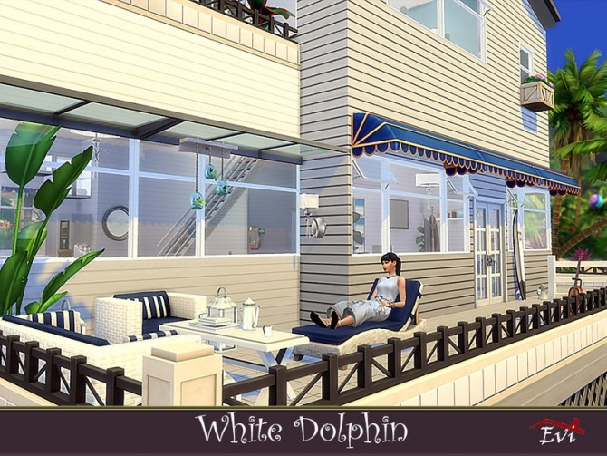 Sims 4 White Dolphin house by evi at TSR