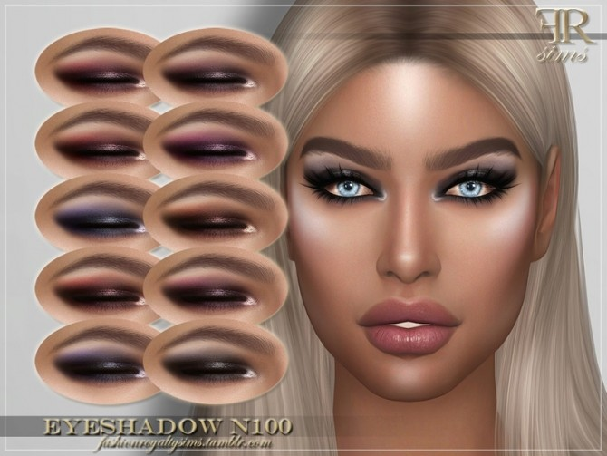 Sims 4 FRS Eyeshadow N100 by FashionRoyaltySims at TSR