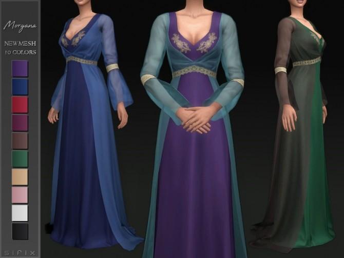 Sims 4 Morgana Dress by Sifix at TSR