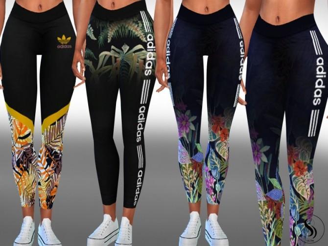 Sims 4 New Style Athletic Leggings by Saliwa at TSR