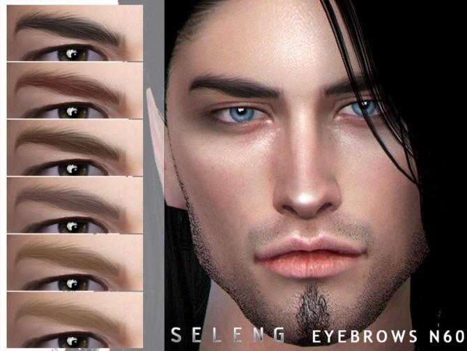 Sims 4 Eyebrows N60 by Seleng at TSR