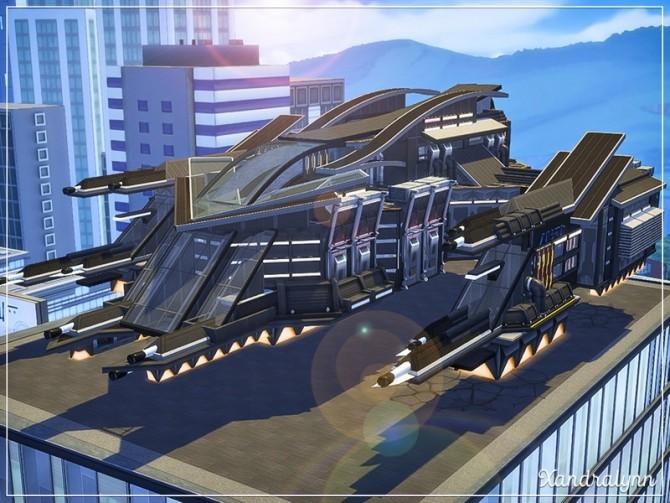 Sims 4 Destroyer interstellar spacecraft by Xandralynn at TSR