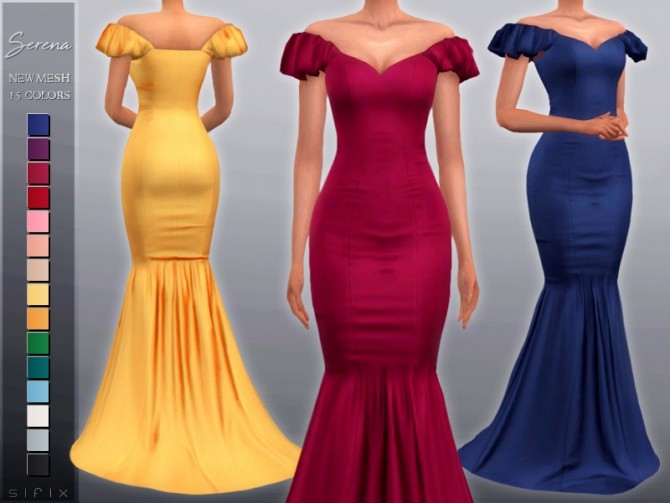 Sims 4 Serena Dress by Sifix at TSR