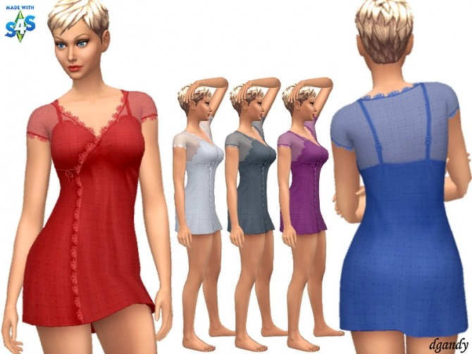 Nightgown 20200406 by dgandy at TSR image 465 670x503 Sims 4 Updates