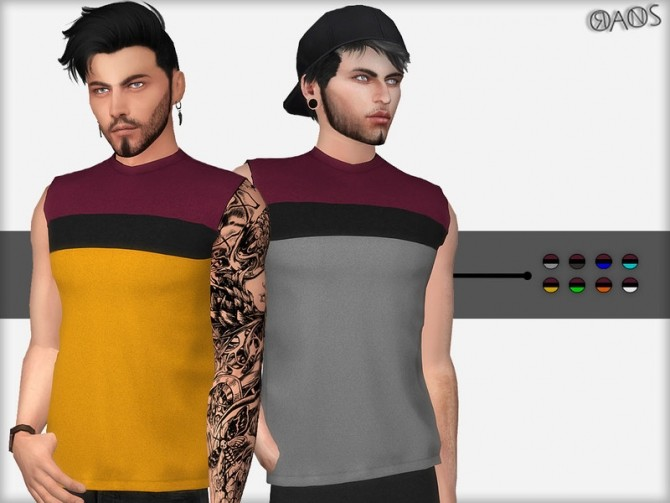 Sims 4 Oversized Sleeveless T Shirt by OranosTR at TSR