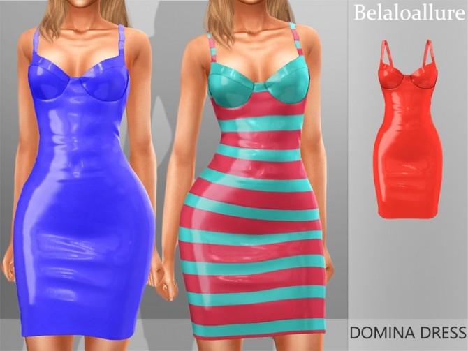 Sims 4 Belaloallure Domina dress by belal1997 at TSR