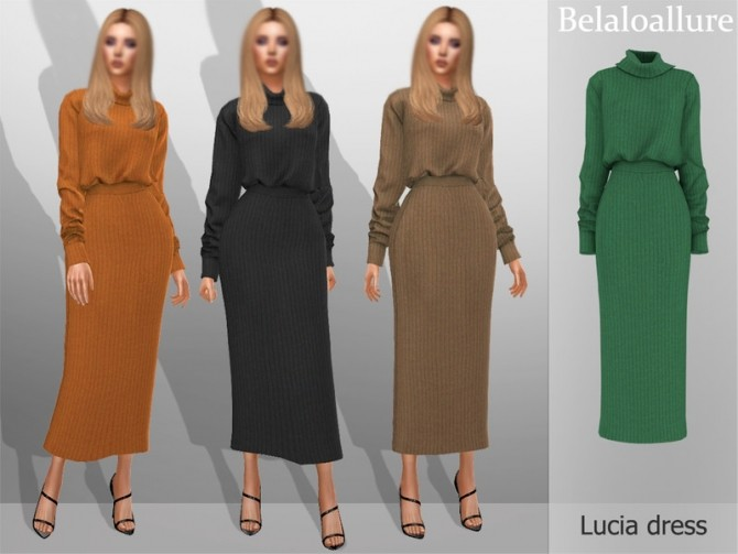 Sims 4 Belaloallure Lucia dress by belal1997 at TSR