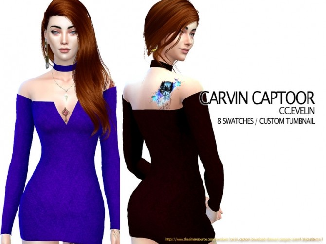 Sims 4 Evelin dress by carvin captoor at TSR