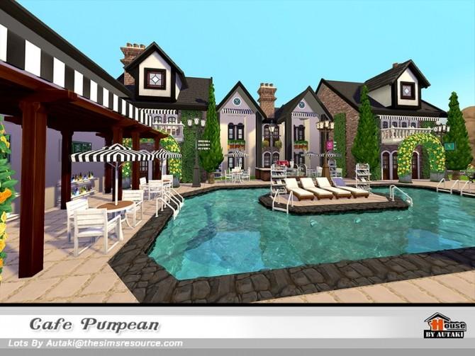 Sims 4 Cafe Punpean NoCC by autaki at TSR