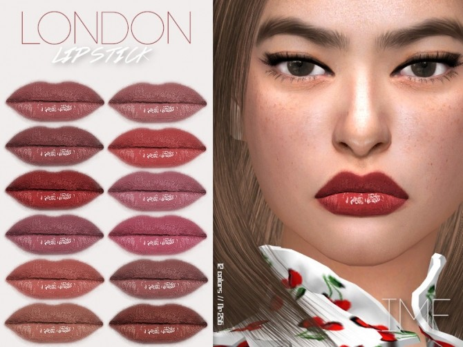 Sims 4 IMF London Lipstick N.256 by IzzieMcFire at TSR