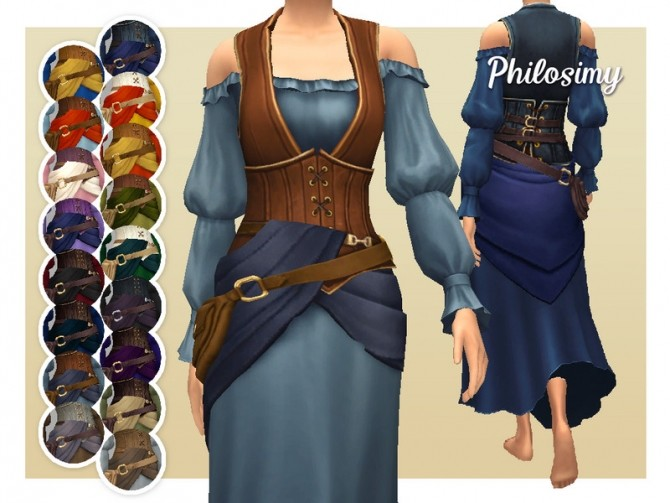 Gypsy Merchant Dress by Philosimy at TSR image 5102 670x503 Sims 4 Updates