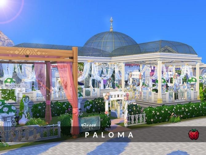 Sims 4 Paloma wedding venue by melapples at TSR