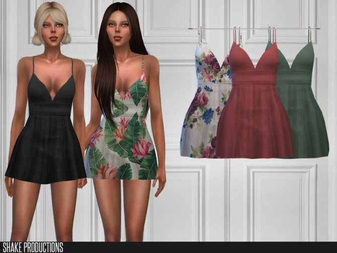 Sims 4 413 Dress by ShakeProductions at TSR