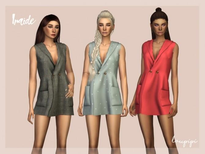 Sims 4 Iraide dress by laupipi at TSR