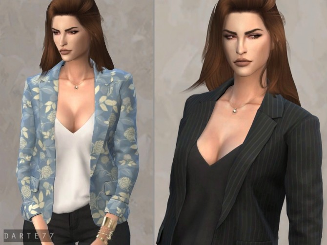 Sims 4 Blazer and Tank Top by Darte77 at TSR