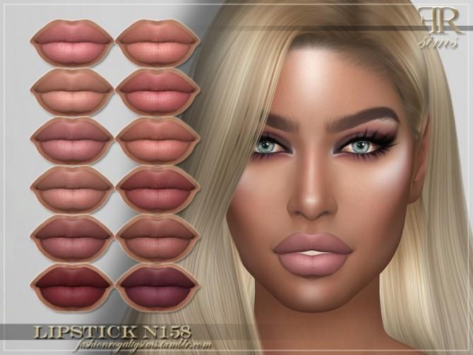 Sims 4 FRS Lipstick N158 by FashionRoyaltySims at TSR