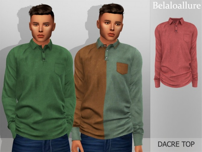 Belaloallure Dacre top by belal1997 at TSR image 522 670x503 Sims 4 Updates