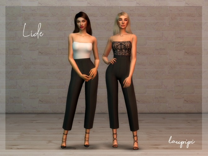 Sims 4 Lide jumpsuit by laupipi at TSR