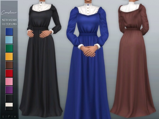 Sims 4 Constance Dress by Sifix at TSR