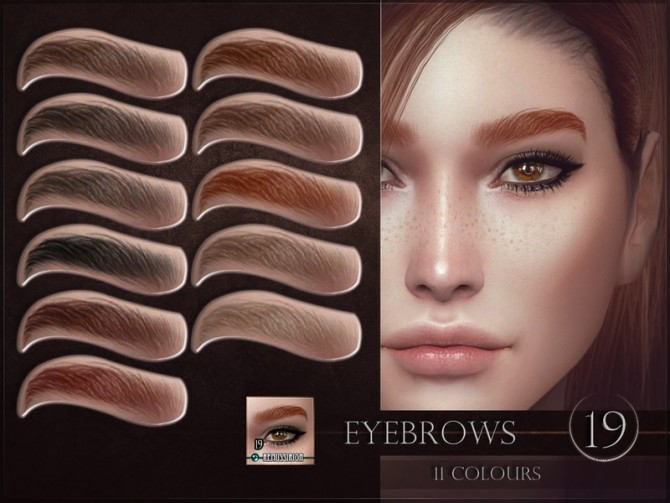 Sims 4 Eyebrows 19 by RemusSirion at TSR