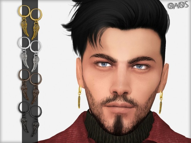 Sims 4 Wing Earrings by OranosTR at TSR
