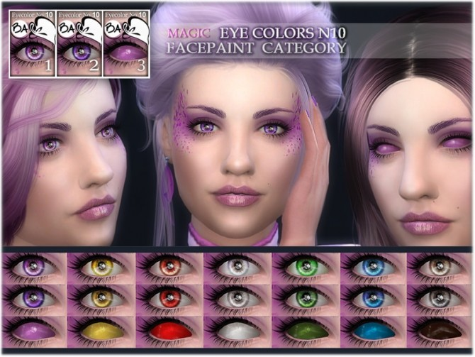 Sims 4 Magic eye colors N10 by BAkalia at TSR