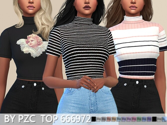 PZC Top 666972 by Pinkzombiecupcakes at TSR image 5422 670x503 Sims 4 Updates