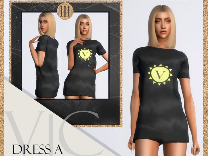 Sims 4 DRESS A III by Viy Sims at TSR