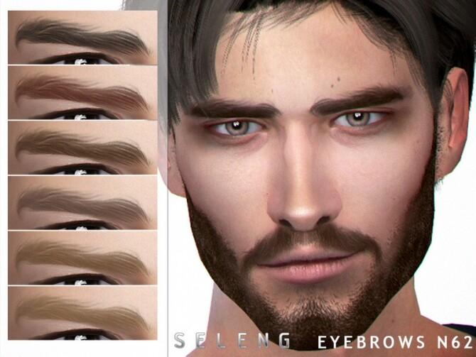 Sims 4 Eyebrows N62 by Seleng at TSR