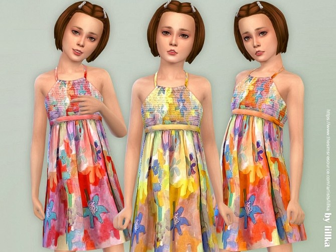 Sims 4 Girls Dresses Collection P138 by lillka at TSR