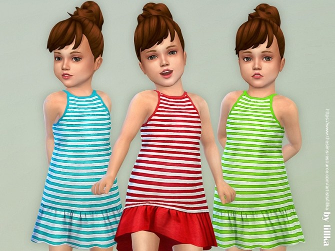 Sims 4 Toddler Dresses Collection P130 by lillka at TSR