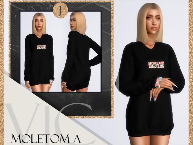 Sims 4 MOLETOM A I dress by Viy Sims at TSR