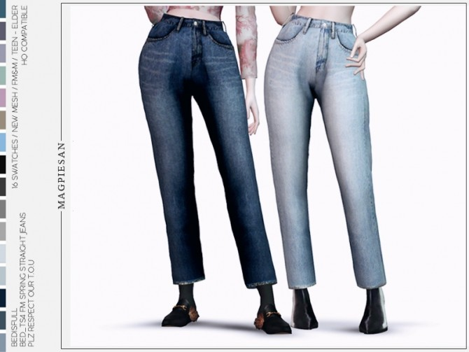 Spring straight jeans by magpiesan at TSR image 573 670x503 Sims 4 Updates