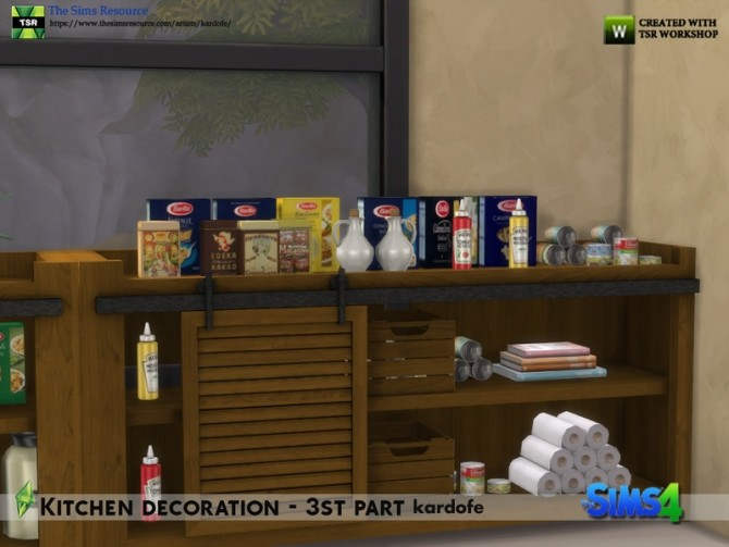 Kitchen decoration 3rd part by kardofe at TSR image 576 670x503 Sims 4 Updates