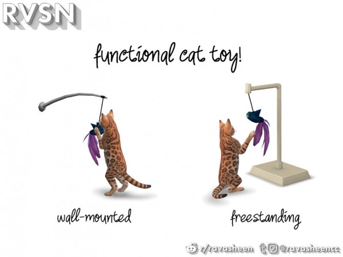 Sims 4 Meow dern Cat Set by RAVASHEEN at TSR